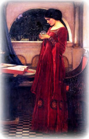 Crystal Ball by J.W.Waterhouse