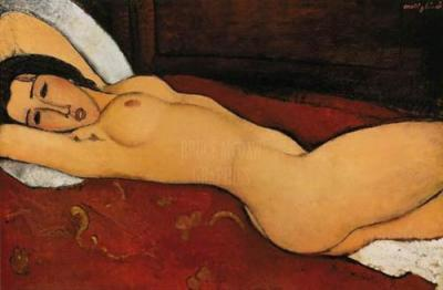 Amedeo Modigliani_REclining Nude_ 1917