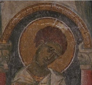 saint with halo