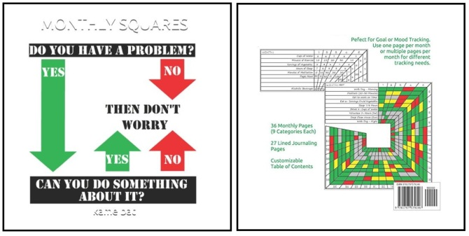 front and back cover of monthly squares